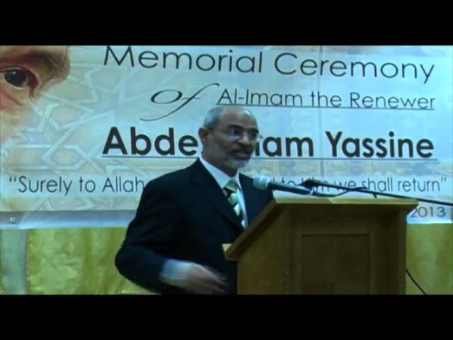 Mr. Abdeouahed Motaouakil in Imam Abdessalam Yassine Memorial  ceremony – London 6th January 2013