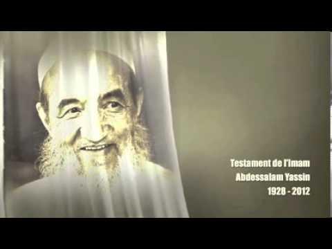Testament de Abdessalam Yassine Imam du Renouveau traduit en français
